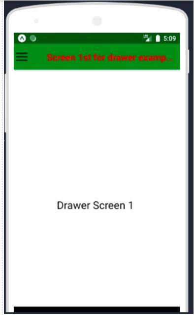 react native drawer navigation 2