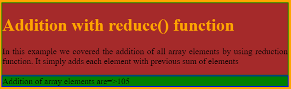 reduce() Function JavaScript - 1