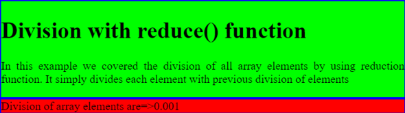 division of elements