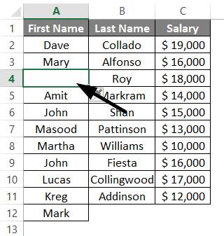 Add Rows in Excel Shortcut 1-5