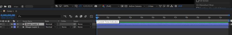 Timeline indicator