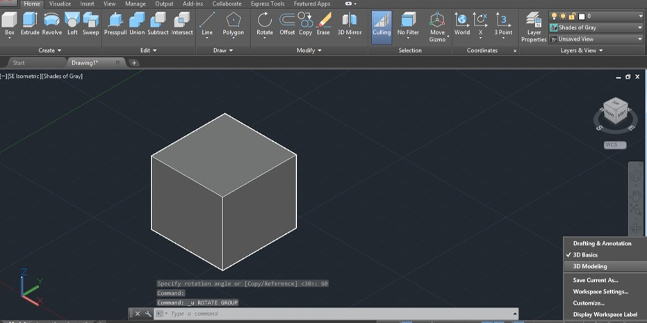 AutoCAD 3D Rotate - 12