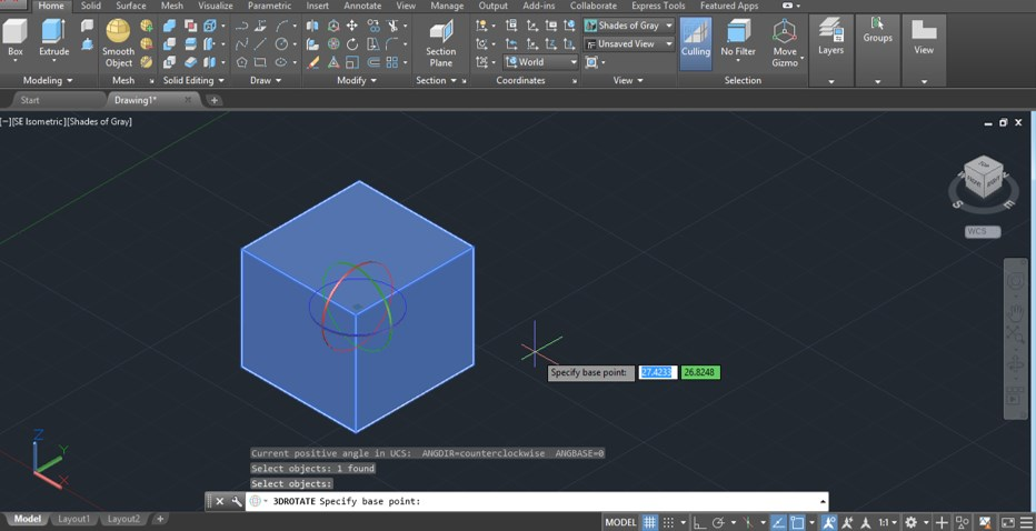 AutoCAD 3D Rotate - 15