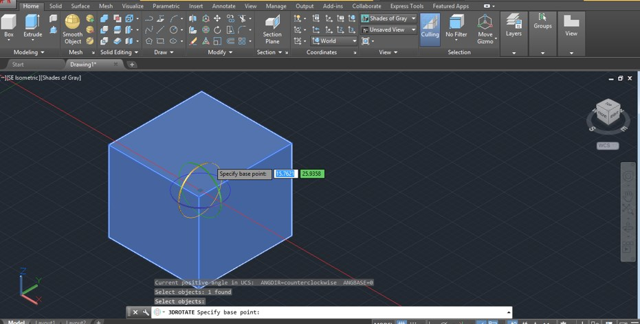 AutoCAD 3D Rotate - 16