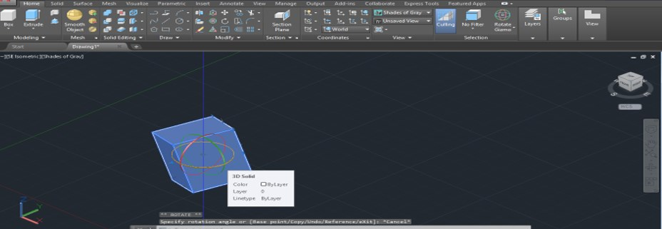 AutoCAD 3D Rotate - 18