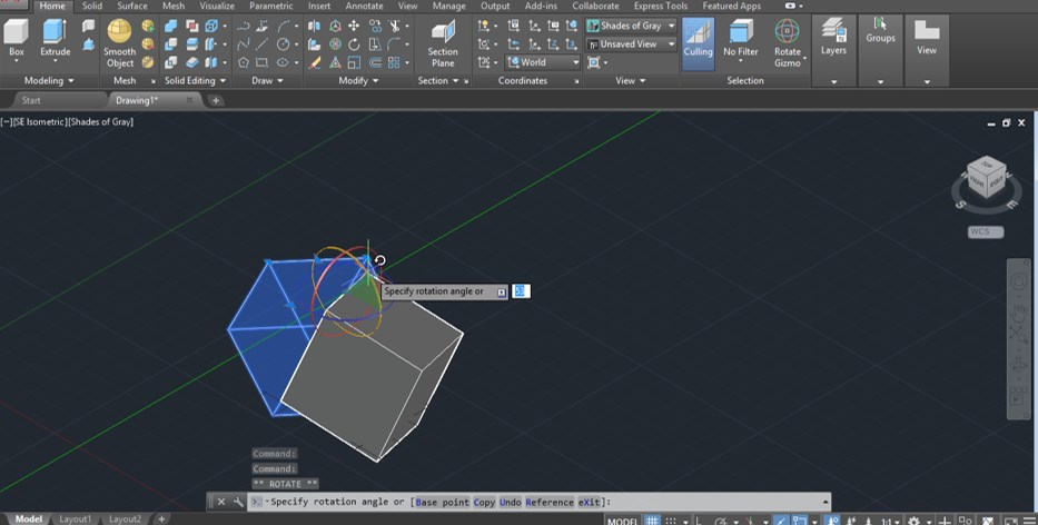 AutoCAD 3D Rotate - 20