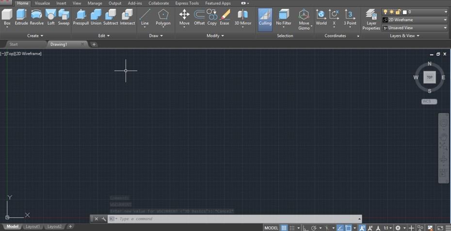 3d Basics workspace