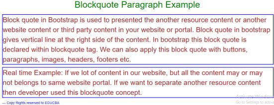 Bootstrap Blockquote - 1