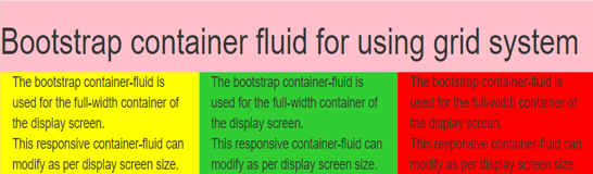 Bootstrap Container Fluid - 2