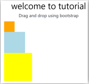 Bootstrap drag and drop output 1