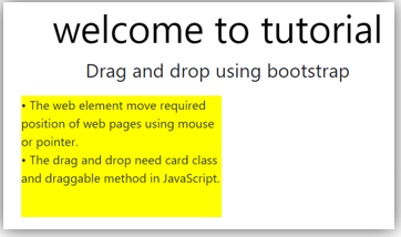Bootstrap drag and drop output 2.2