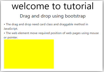 Bootstrap drag and drop output 2