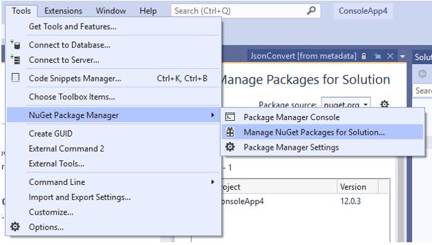 C# Create JSON Object-1.1