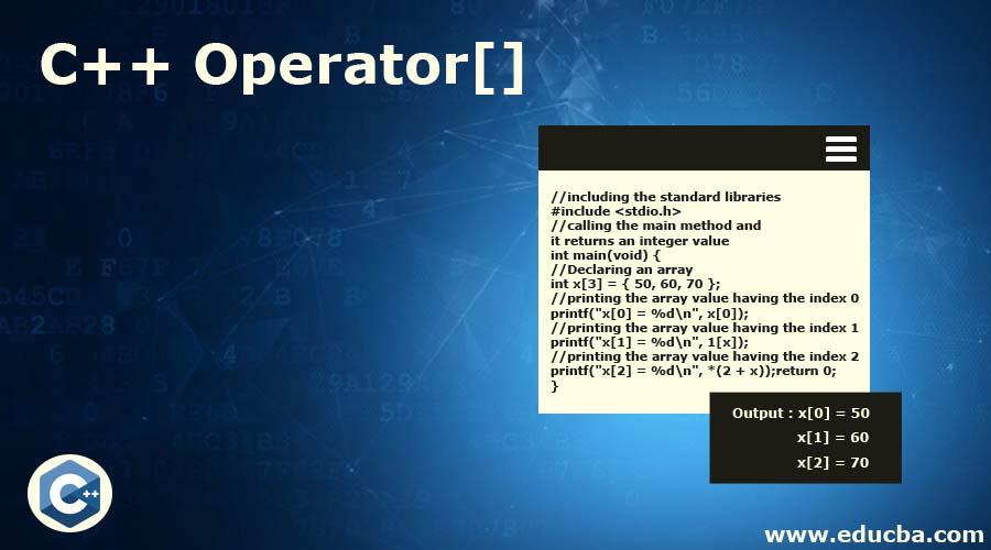 C++ Operator[]