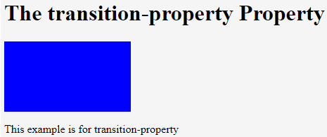 CSS Animation Transition Example 1