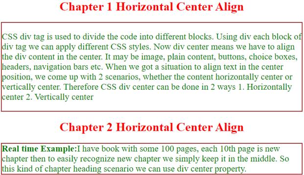 CSS Center Div - 1