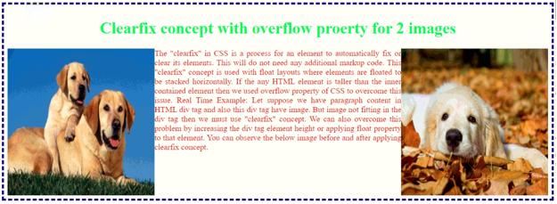 overflow property