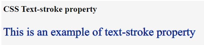 CSS text-stroke 1