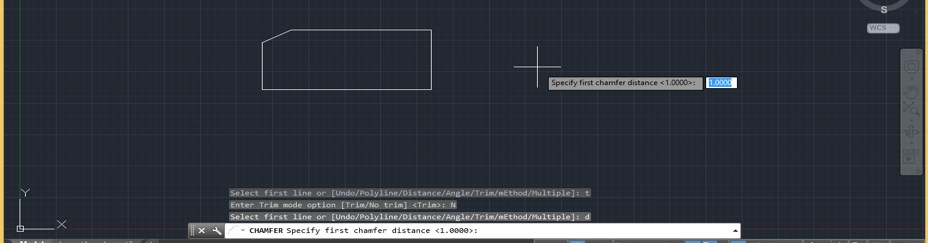 Chamfer in AutoCAD - 14