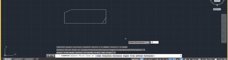 Chamfer in AutoCAD - 18