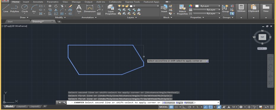 Chamfer in AutoCAD - 26