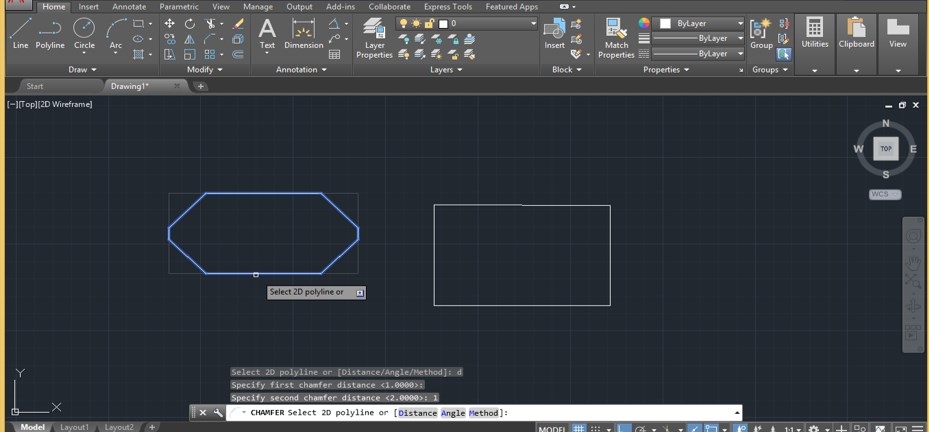 Chamfer in AutoCAD - 28