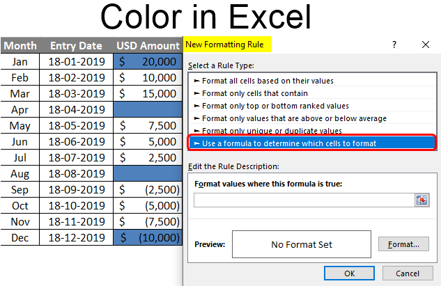 Color in Excel