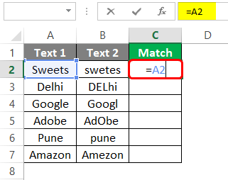 Compare Two Columns in Excel for Match 1-3