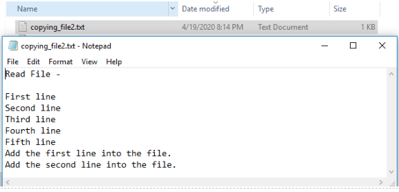 CopyingFile Example 6