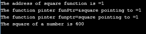 Function Pointer in C++ output 2