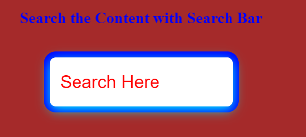 HTML Search Bar - 2