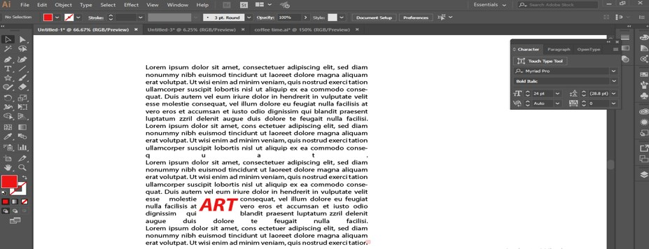 How to Warp Text in Illustrator - 19