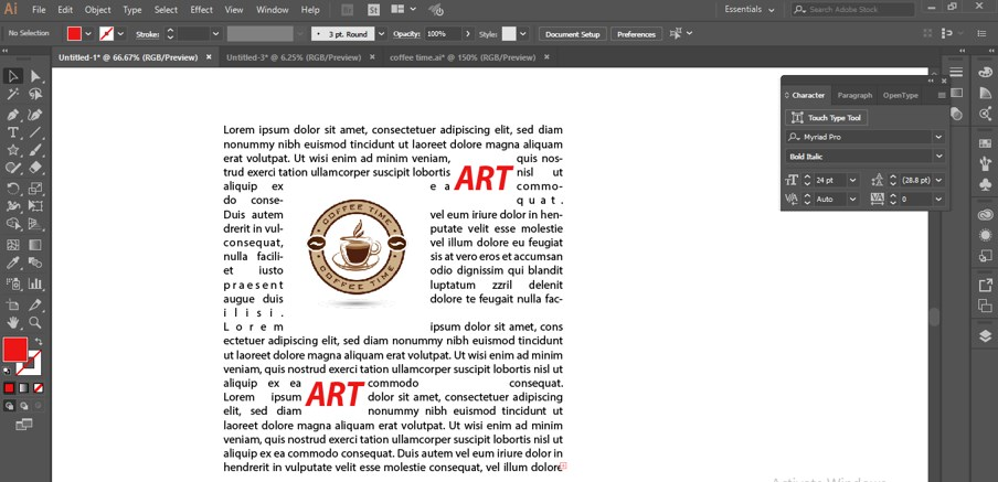 How to Warp Text in Illustrator - 2.3