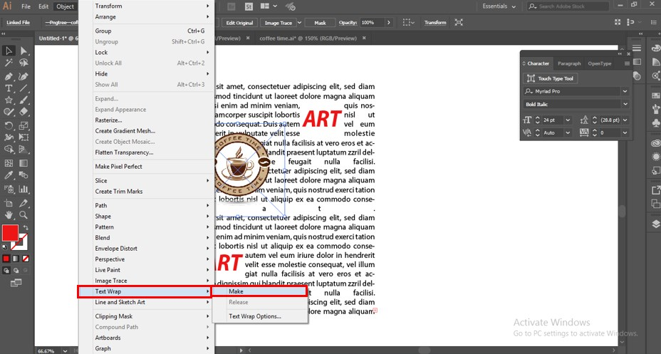 How to Warp Text in Illustrator - 22