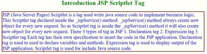 JSP Scriptlet 1