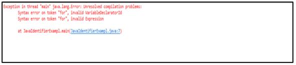 Java Identifiers-1.1