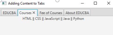 JavaFX TabPane Example 2