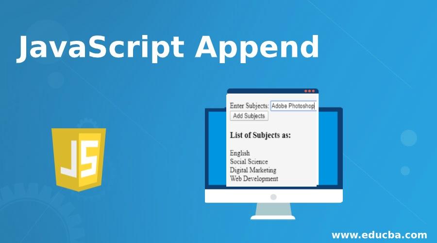 JavaScript Append