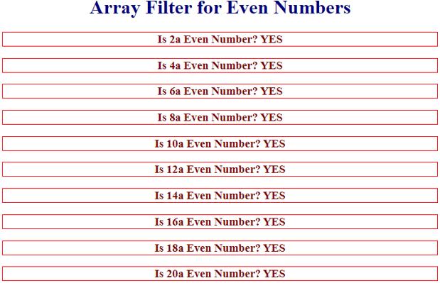 JavaScript Array Filter - 3