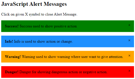 JavaScript Message Box Example 2