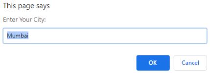 JavaScript Message Box Example 4