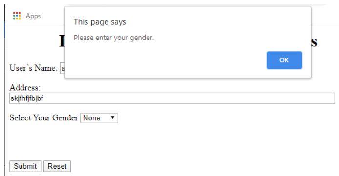 enter your gender