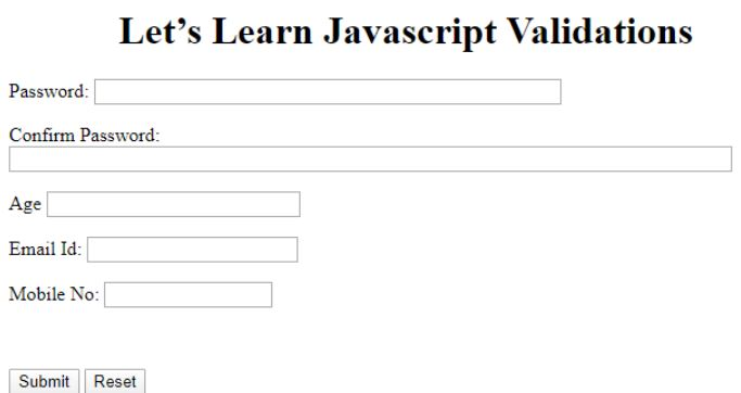 JavaScript Validation 5JPG