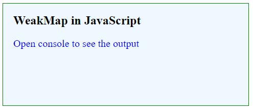 JavaScript WeakMap-1.1