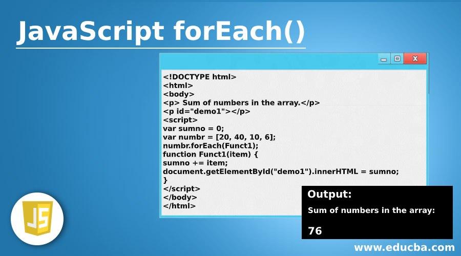 JavaScript forEach()