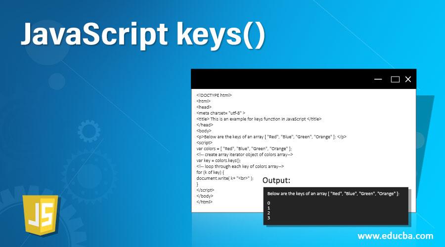 JavaScript keys()