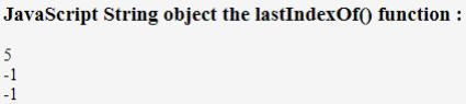 JavaScript lastIndexOf() Example 2