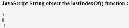 JavaScript lastIndexOf() Example 3