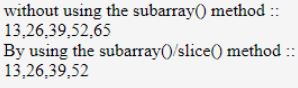 JavaScript subarray 4