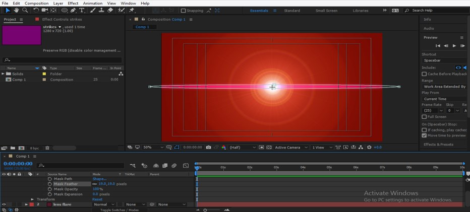 Lens Flare in After Effects - 28